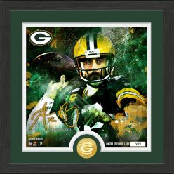 Aaron Rodgers Surge Bronze Coin Signature Photo Mint