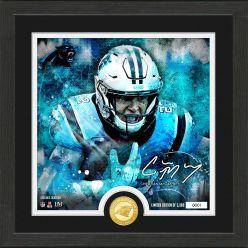 Christian McCaffrey Surge Bronze Coin Signature Photo Mint