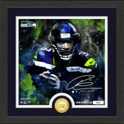 Russell Wilson Surge Mint Coin Signature Photo Mint