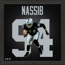 Carl Nassib Las Vegas Raiders Impact Jersey Frame