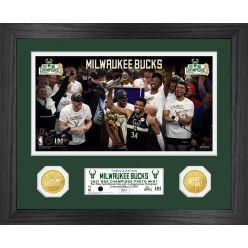 Milwaukee Bucks 2021 NBA Finals Champions Bronze Coin Photo Mint