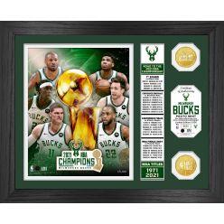 Milwaukee Bucks 2021 NBA Finals Champions Banner Bronze Coin Photo Mint