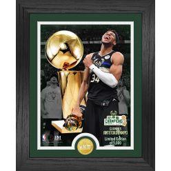 Giannis Antetokounmpo 2021 NBA Finals Champions Trophy Bronze Coin Photo Mint