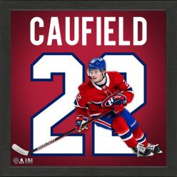Cole Caufield Montreal Canadiens Impact Jersey Frame