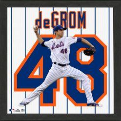 Jacob deGrom New York Mets Impact Jersey Frame