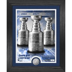 Tampa Bay Lightning 3X Stanley Cup Champions Silver Coin Photo Mint