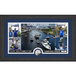Tampa Bay Lightning 2021 NHL Stanley Cup Champions Parade Pano Silver Coin Photo Mint