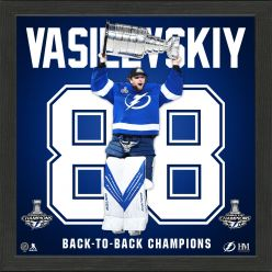 Andrei Vasilevsky 2021 Stanley Cup Champion Back to Back Impact Jersey Frame