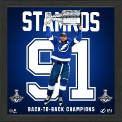 Steven Stamkos 2021 Stanley Cup Champion Back to Back Impact Jersey Frame