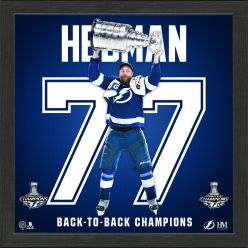 Victor Hedman 2021 Stanley Cup Champion Back to Back Impact Jersey Frame