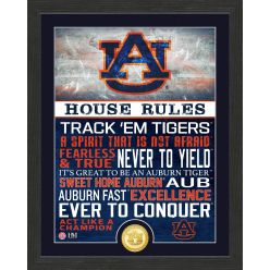 Auburn University Tigers House Rules Bronze Coin Photo Mint