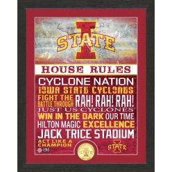 Iowa State University Cyclones House Rules Bronze Coin Photo Mint