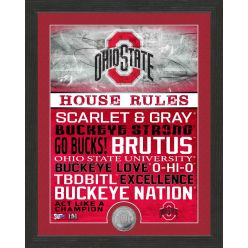 Ohio State University Buckeyes House Rules Mint Coin Photo Mint