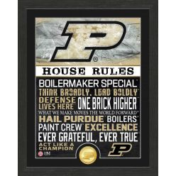 Purdue University Boilermakers House Rules Bronze Coin Photo Mint