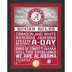 University of Alabama Crimson Tide House Rules Bronze Coin Photo Mint