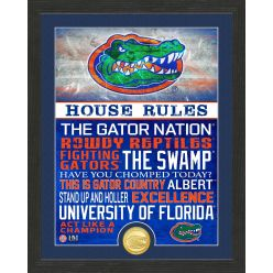 University of Florida Gators House Rules Bronze Coin Photo Mint