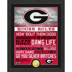 University of Georgia Bulldogs House Rules Bronze Coin Photo Mint