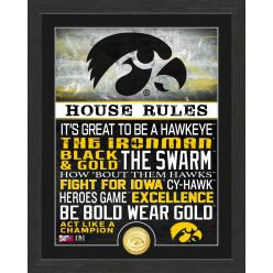 University of Iowa Hawkeyes House Rules Bronze Coin Photo Mint