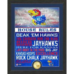 University of Kansas JayhawksHouse Rules Bronze Coin Photo Mint