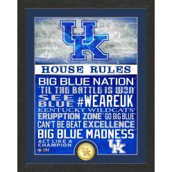 University of Kentucky Wildcats House Rules Bronze Coin Photo Mint