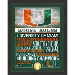 University of Miami Hurricanes House Rules Bronze Coin Photo Mint