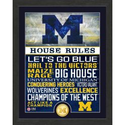 University of Michigan Wolverines House Rules Bronze Coin Photo Mint