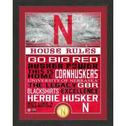 University of Nebraska Cornhuskers House Rules Bronze Coin Photo Mint