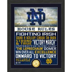 University of Notre Dame Fighitng Irish House Rules Bronze Coin Photo Mint