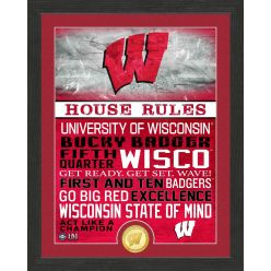 University of Wisconsin Badgers House Rules Bronze Coin Photo Mint