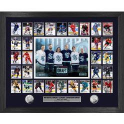 Seattle Kraken 2021 NHL Expansion Draft Memorable Moments Silver Coin Photo Mint