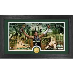 Giannis Antetokounmpo 2021 NBA Finals Pano Bronze Coin Photo Mint