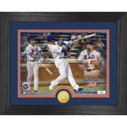 Javier Baez Mets Debut Game Bronze Coin Photo Mint