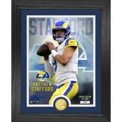 Matthew Stafford Los Angeles Rams Bronze Coin Photo Mint