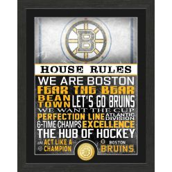 Boston Bruins House Rules Bronze Coin Photo Mint