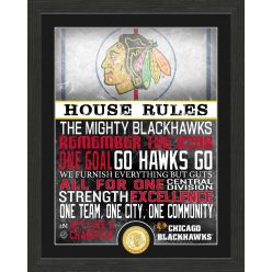 Chicago Blackhawks House Rules Bronze Coin Photo Mint
