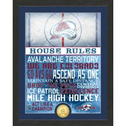 Colorado Avalanche House Rules Bronze Coin Photo Mint