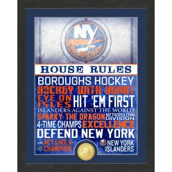 New York Islanders House Rules Bronze Coin Photo Mint