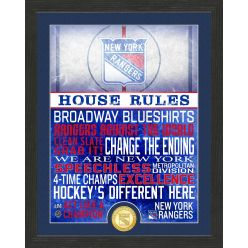 New York Rangers House Rules Bronze Coin Photo Mint