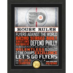 Philadelphia Flyers House Rules Bronze Coin Photo Mint