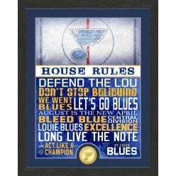 St. Louis Blues House Rules Bronze Coin Photo Mint