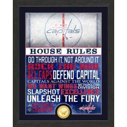 Washington Capitals House Rules Bronze Coin Photo Mint