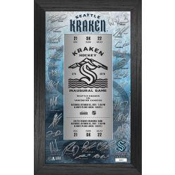 Seattle Kraken Inaugural Home Game Signature Ticket Frame
