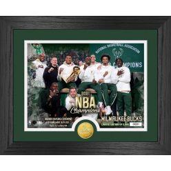 Milwaukee Bucks 2021 Banner Raising Ceremony Bronze Coin Photo Mint