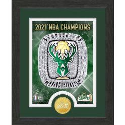 Milwaukee Bucks 2021 Championship Ring Bronze Coin Photo Mint