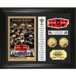 New Orleans Saints Super Bowl XLIV Champs 24KT Gold Coin Banner Photo Mint