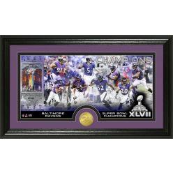 Baltimore Ravens Super Bowl XLVII Champions Bronze Coin Pano Photo Mint