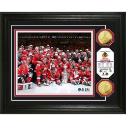 "Chicago Blackhawks 2015 Stanley Cup Champions ""Celebration"" Gold Coin Photo Mint"