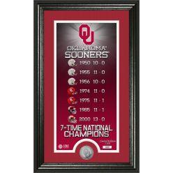 "University of Oklahoma ""Legacy"" Supreme Bronze Coin Panoramic Photo Mint"