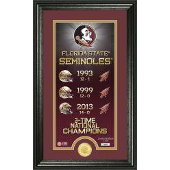 "Florida State University ""Legacy"" Supreme Bronze Coin Panoramic Photo Mint"