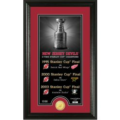 """New Jersey Devils """"Legacy"""" Supreme Bronze Coin Panoramic Photo Mint"""